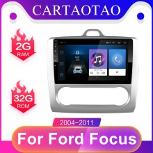 2 din per Ford Focus Exi AT 2 Mk2 2004 2005 2006 2007 2008-2012 Android 9.0 autoradio Multimedia lettore Video navigazione Gps