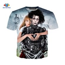 Movie Scissor Hand Edward 3D Printing Men's and Women's Casual O-neck Harajuku T-shirt Summer T-shirt Casual Shirt Streetwear6xl