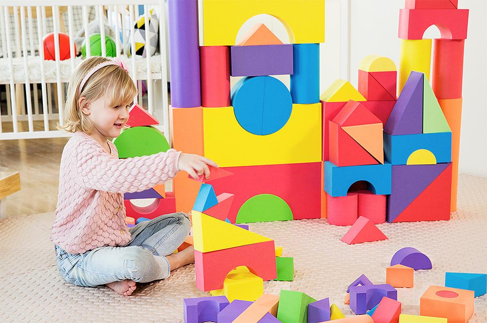 Building Blocks Baby Big Blocks Educational Toys Large for Children EVA 50PCS Pretend Play Game Foam Toys
