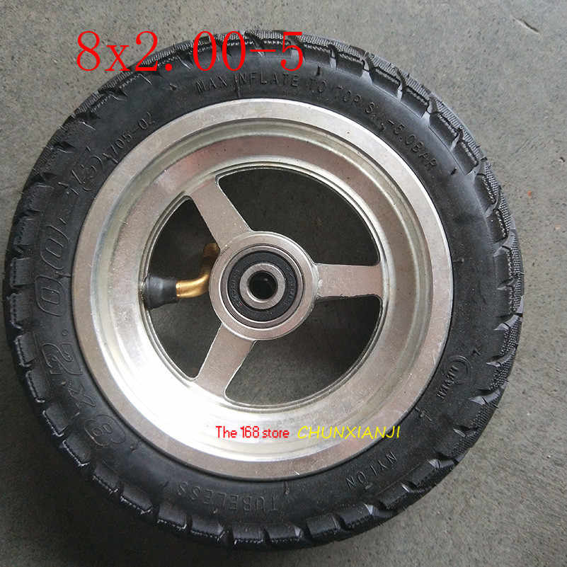 Good Quality 8x2.00-5 Tubeless Tire Wheel Tyre 8*2.00-5 Wheel Hub Pocket Bike MINI Bike Electric Wheelchair Wheel Motor