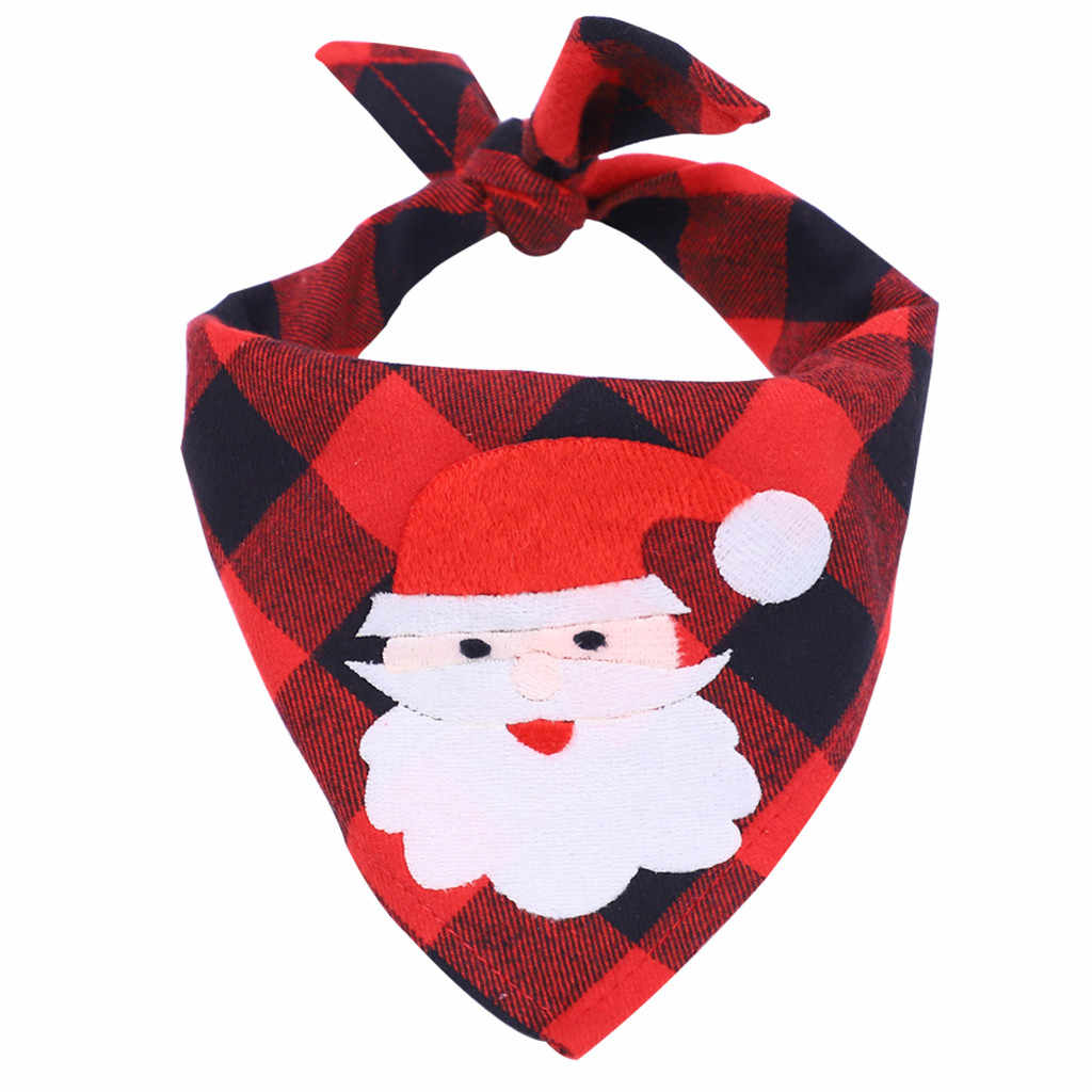 כותנה רך לנשימה חג המולד עץ כלב כלב מטפחת צעיף משולש תחבושת כלב ביב רוק מגבת לחיות מחמד אביזרי 60X40cm