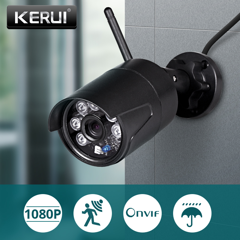 KERUI 1080P 2MP Full HD Wireless Outdoor WiFi IP Camera IP54 Waterproof  Home Security Surveillance CCTV Camera Night Vision