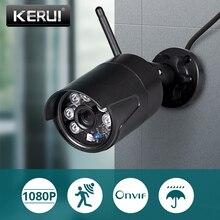 KERUI 1080P 2MP Full HD bezprzewodowa zewnętrzne WiFi kamera IP IP54 wodoodporna bezpieczeństwo w domu kamera monitoringu CCTV widzenie w nocy