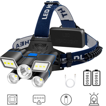 5800LM XML L2 LED Hunting Headlamp 18650 USB Rechargeable Work Lamp Fishing Flashlight Warning Strobe Light Camping Tent Lantern sitemap 165 xml