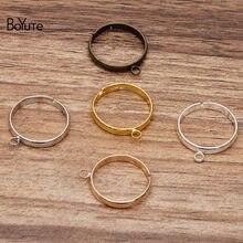 BoYuTe (50 Pieces/Lot) Inner 18MM Diameter Adjustable Ring Base Settings with One Loop Diy Handmade Jewelry Accessories