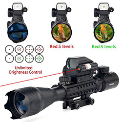 4 16X50 Eg Air Rifle Gun Riflescope Outdoor Hunting Optics Telescoop Sight Rood Groen Lluminated Richtkruis Scope Gun Sight|Richtkijker|sport & Entertainment -