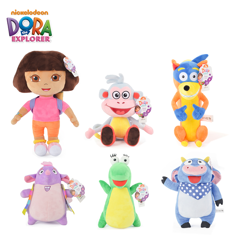 Original Dora The Explorer Boots Swiper Tico Isa Benny Cartoon Animal Soft Stuffed Plush Toys Dolls Children Birthday Xmas Gift