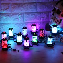 LED Lights Fairy Lights Battery Christmas Halloween USB Romantic Lights Halloween Lights Colorful LED Decorative Lights Candle Shaped Flameless Tea Lights Party Decorations Built-in Battery Halloween Lights