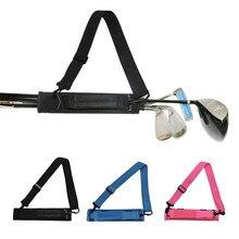 Golf Club Bag Carrier Driving Range Travel Gfit Color Black Blue Kids Men Women Value Pack Foldable Portable Accessories