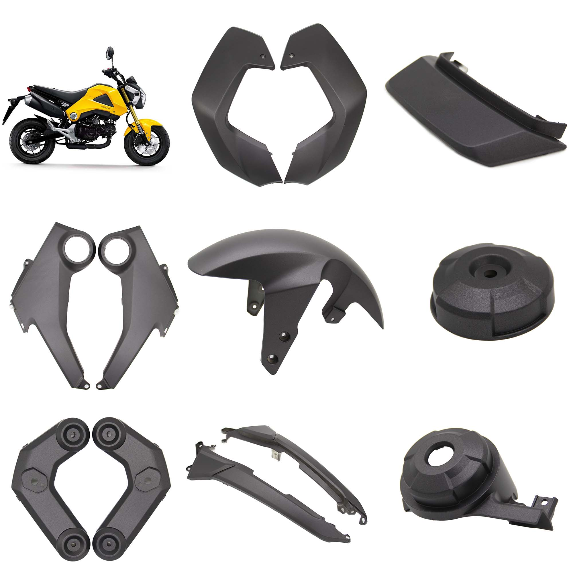 For Honda Msx125 Msx 125 Grom 2013 2014 2015 Fairing Kits Front Fender Mudguard Side Panel Cover Cowl Protective Guard