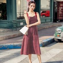 فستان عتيق أحمر اللون للنساء موضة صيف 2020 فستان بووتي مثير بدون ظهر بحمالات رفيعة فستان ضيق بخصر عالٍ متوفر بمقاسات كبيرة