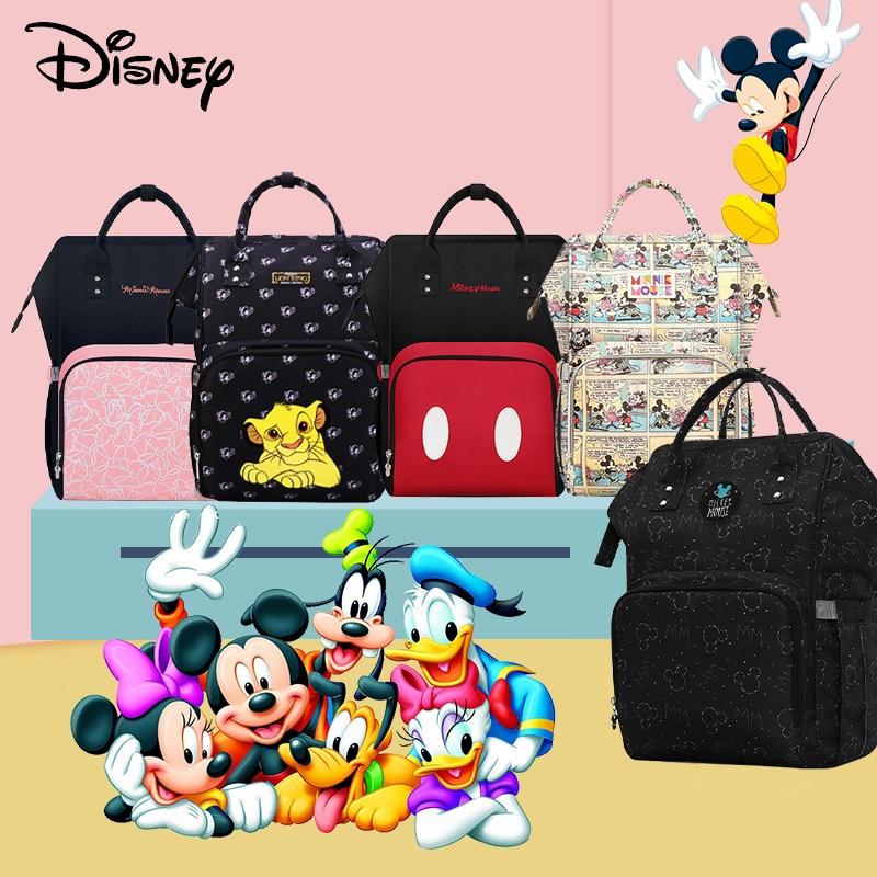 Disney sacs de soins de maternité pour maman USB bébé sac à langer organisateur sac à dos étanche pour poussette Disney maman changeant des sacs humides