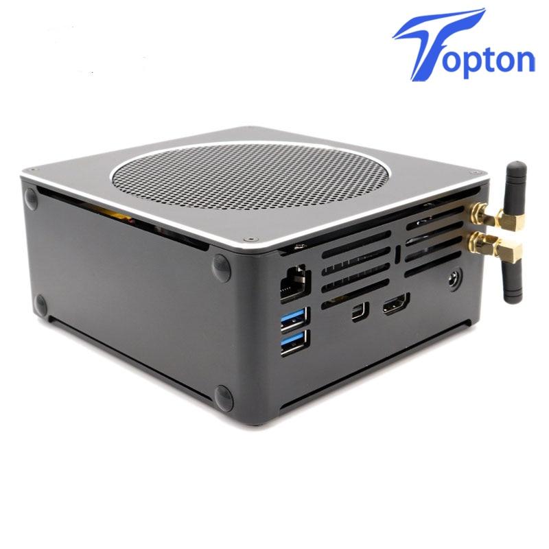 Topton Mini PC Intel Xeon E3-1505M V5 4 Core 8 Threads 2.80 GHz Desktop Computer Win10 Pro 16GB DDR3L AC Wifi 4K Mini DP HDMI