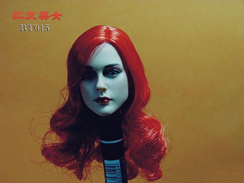 GACTOYS GC017 1//6 European Red Short Hair Carving Head Scuplt F 12/'/' Figure Body