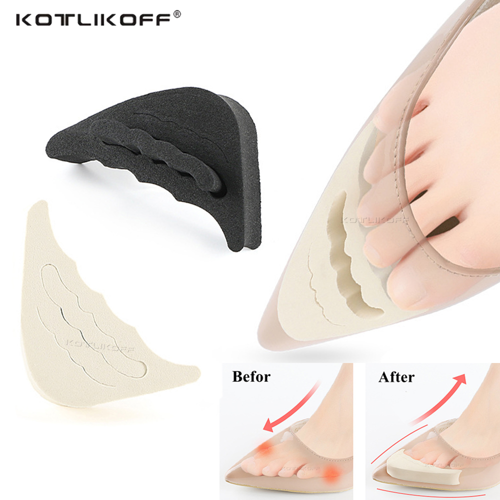 Anti-Pain Cushion Forefoot Insert Half Yards Shoes Pad Top Plug Shoe Cushion Adjust Size Toe Cap Inserts Toe Shoes Accessories