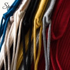 Image 5 - Sparsil Unisex kış kaşmir örme kapşonlu yaka çıkarılabilir elastik şapka erkekler ve kadınlar sıcak kalın yün boyun Wrap İpli kapaklar