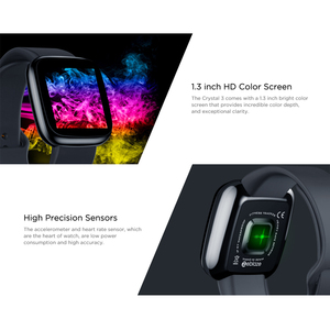 Image 2 - [Value King]Zeblaze Crystal 3 Smartwatch WR IP67 Heart Rate Blood Pressure Long Battery Life IPS Color Display Smart Watch