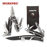 Workpro 3 pc kits de ferramentas sobrevivência multi alicate multifuncional faca tático faca acampamento multitools