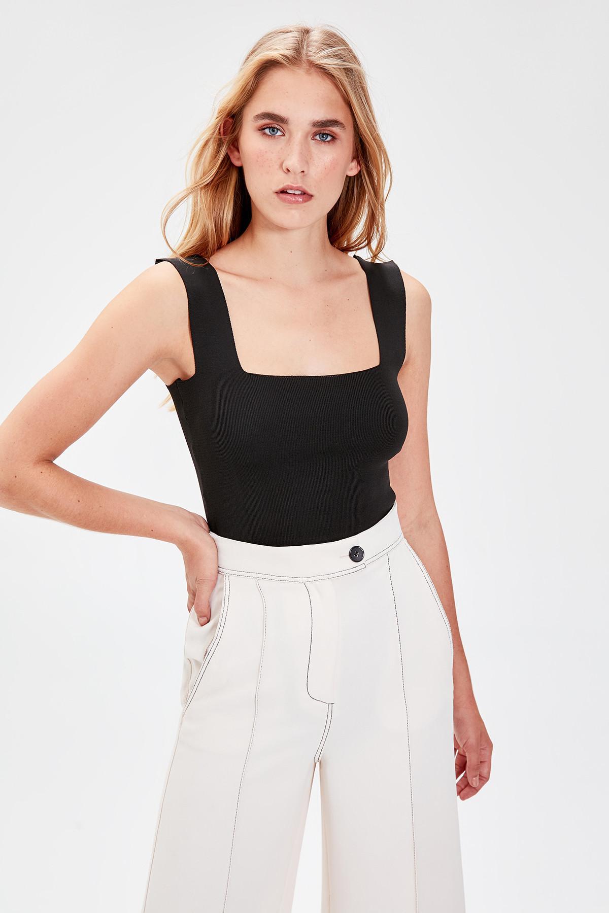 Trendyol Black Thick Straps Bluz TWOAW20BZ0576