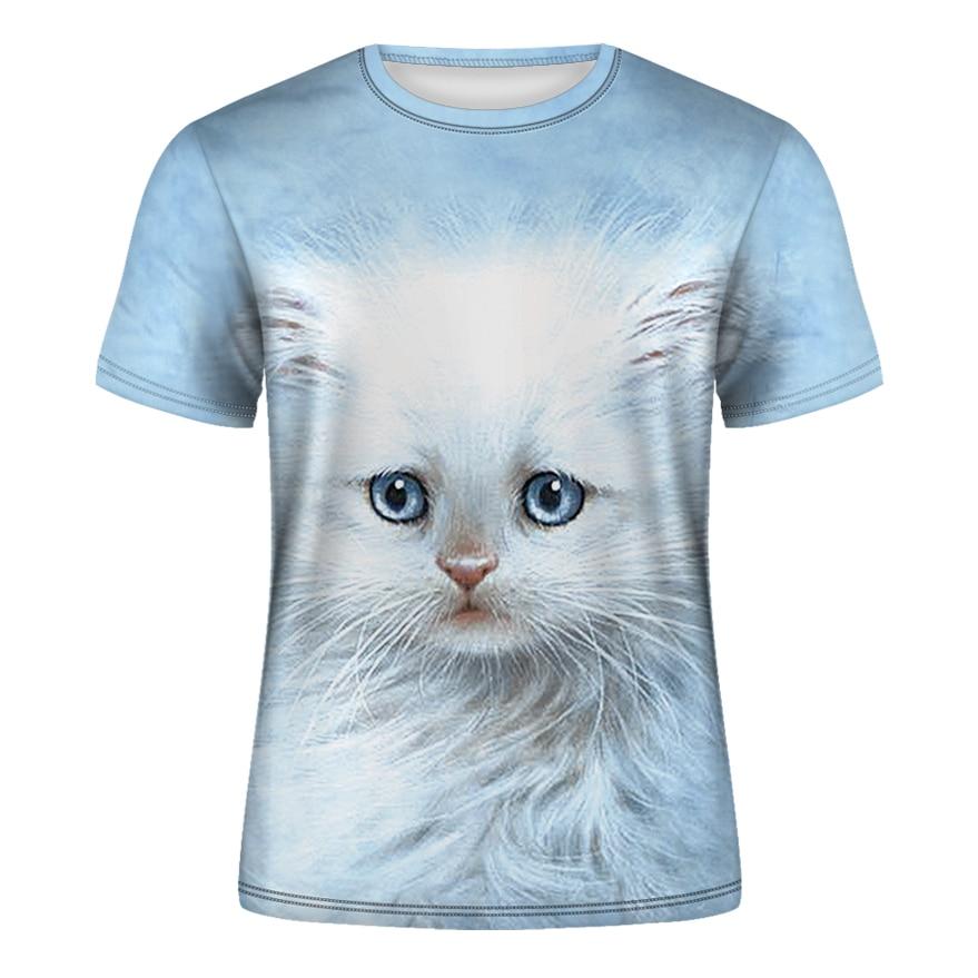 Cat Lady T-shirt Women's Short Sleeves Top 3d Harajuku Tees Top Plus Size Animal T-shirt T Shirt Women XS-4XL 2020 Summer