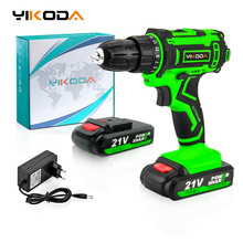 Cordless-Drill Power-Tools Electric-Screwdriver YIKODA Lithium-Battery Rechargeable Mini