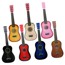 21 inch Solid Wood 6 Strings Acoustic Guitar Practice Mini String Acoustic Guitarra for Child Beginners Home-schooling