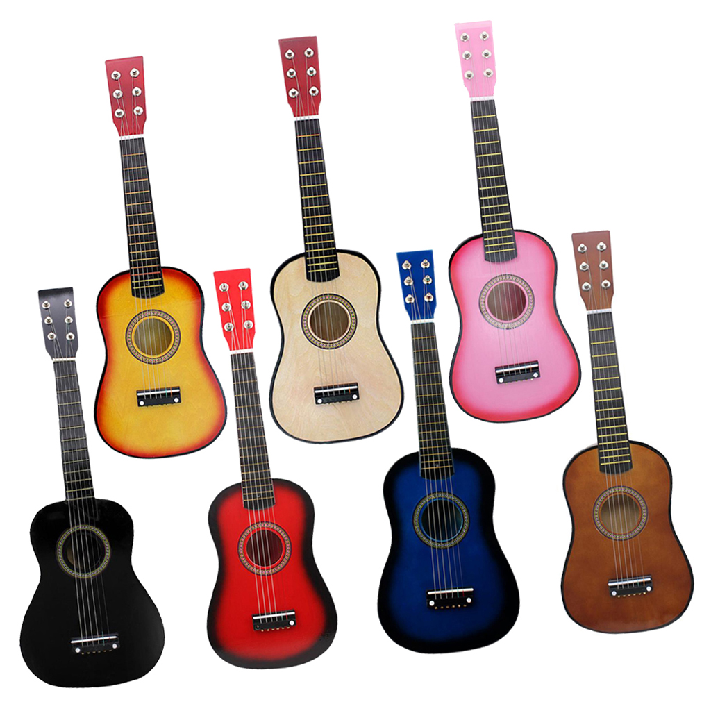 21 inch Solid Wood 6 Strings Acoustic Guitar Children Practice Mini String Acoustic Guitarra for Child Beginners Home-schooling