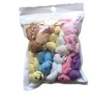 Conejo pequeño de 4-5CM, mezcla de oso, juguete de peluche, 10 Uds.
