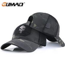 Casquette tactique militaire Airsoft, ajustable, pare-soleil respirant, chapeau de camionneur, maille, chasse, randonnée, Baseball, squelette