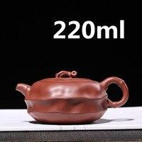 中国セラミックティーポットティーポット宜興の Zisha 粘土 Gongfu ティーセット磁器ティーポット 220 ミリリットル高品質の新ギフトボックス -