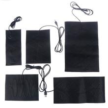5V Carbon Fiber Heating Pad Hand Warmer USB Heating Film Electric Winter Infrared Fever Heat Mat 1/4PCS