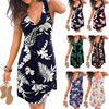 Beach Boho Print Dresses for women 2021 Sexy V-neck Sleeveless Loose A-Line Dress Plus Size Summer Women Casual Dresses Vestidos 1