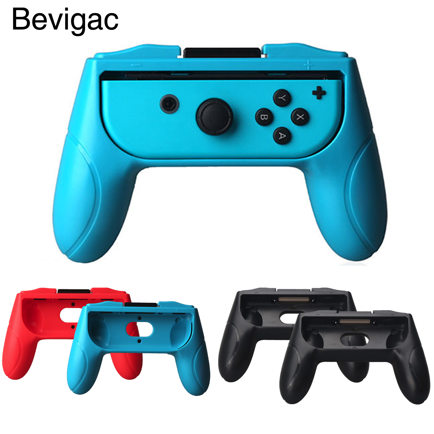 Bevigac 1 Pair Abrasion Resistance Controller Grips Handles for Nintendo Nintend Nitendo Switch Joy-Con Console Game Accessories