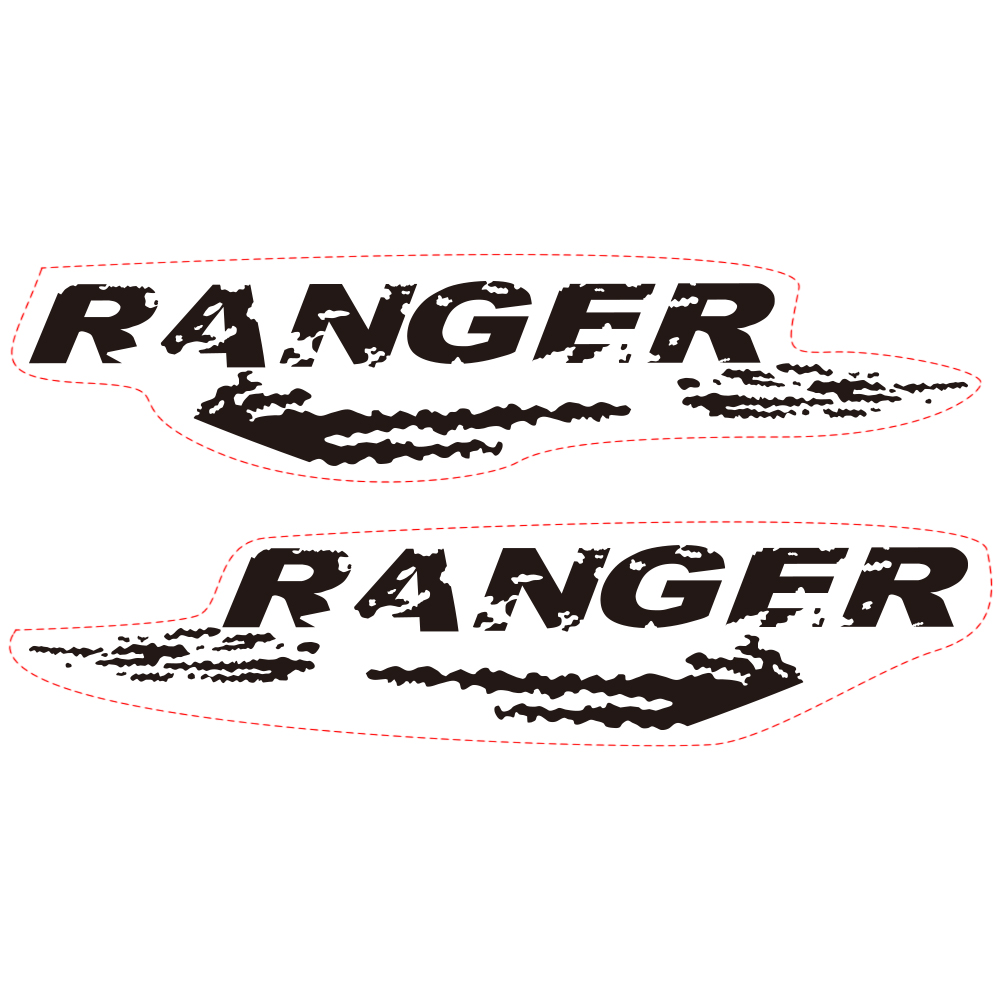 Купить с кэшбэком car decals mudslinger body rear tail side graphic vinyl car sticker fit for Ford ranger 2012 2013 2014 2015 2016 2017 2018 2019