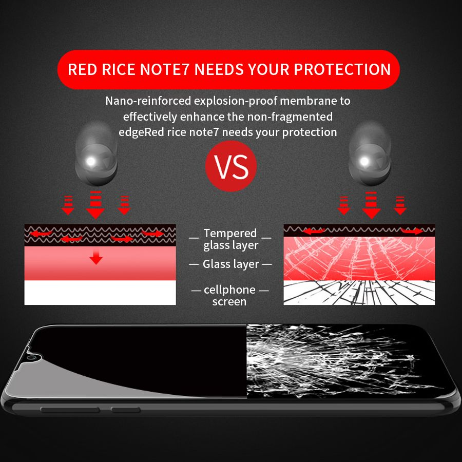 20D Full Cover Tempered Glass For Xiaomi Redmi 7 Screen Protector Protective Glasses For Xiaomi Redmi Note 7 Glass Film in Phone Screen Protectors from Cellphones Telecommunications