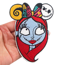 K1090 Nightmare Sticker for Clothing Applications Patches on Clothes Iron Embroidered Patch for Backpack zotoone iron on cute alien patches for clothing t shirt cool badges embroidered diy cool patch sew stripe on clothes applique g
