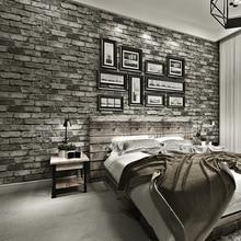 Moderne Vintage Ziegel Strukturierte Tapete Für Wände Dekor Geprägte 3D Wand papier Rollen Für Schlafzimmer wohnzimmer Sofa TV Hintergrund