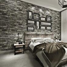 Nowoczesne klasyczne cegły teksturowane tapety na ścianach Decor tłoczone 3D rolki tapety do sypialni sofa do salonu TV tle