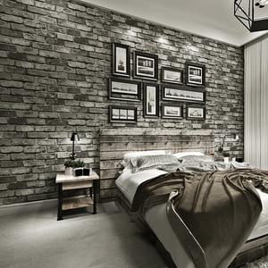 Image 1 - Nowoczesne klasyczne cegły teksturowane tapety na ścianach Decor tłoczone 3D rolki tapety do sypialni sofa do salonu TV tle