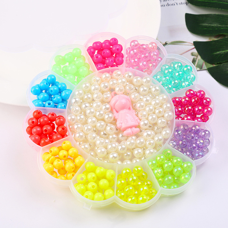 500-580Pcs DIY Beads Toys For Children Hands-on Ability Child Educational Toy Girl Gifts Beaded Lacing Weaving Necklace New