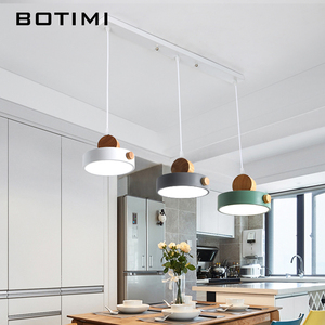 BOTIMI Nordic LED Pendant Lights With Metal Lampshade For Dining Room 220V Cord Hanging Lamp Restaurant Lighting Fixture(China)