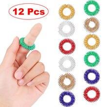 12 pçs spiky sensorial anéis de dedo anéis acupressão conjunto silencioso alívio do estresse brinquedos sensoriais fidget