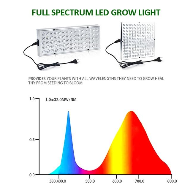 2pcs LED Grow Lights Full Spectrum Phyto Lamp For Plants 3