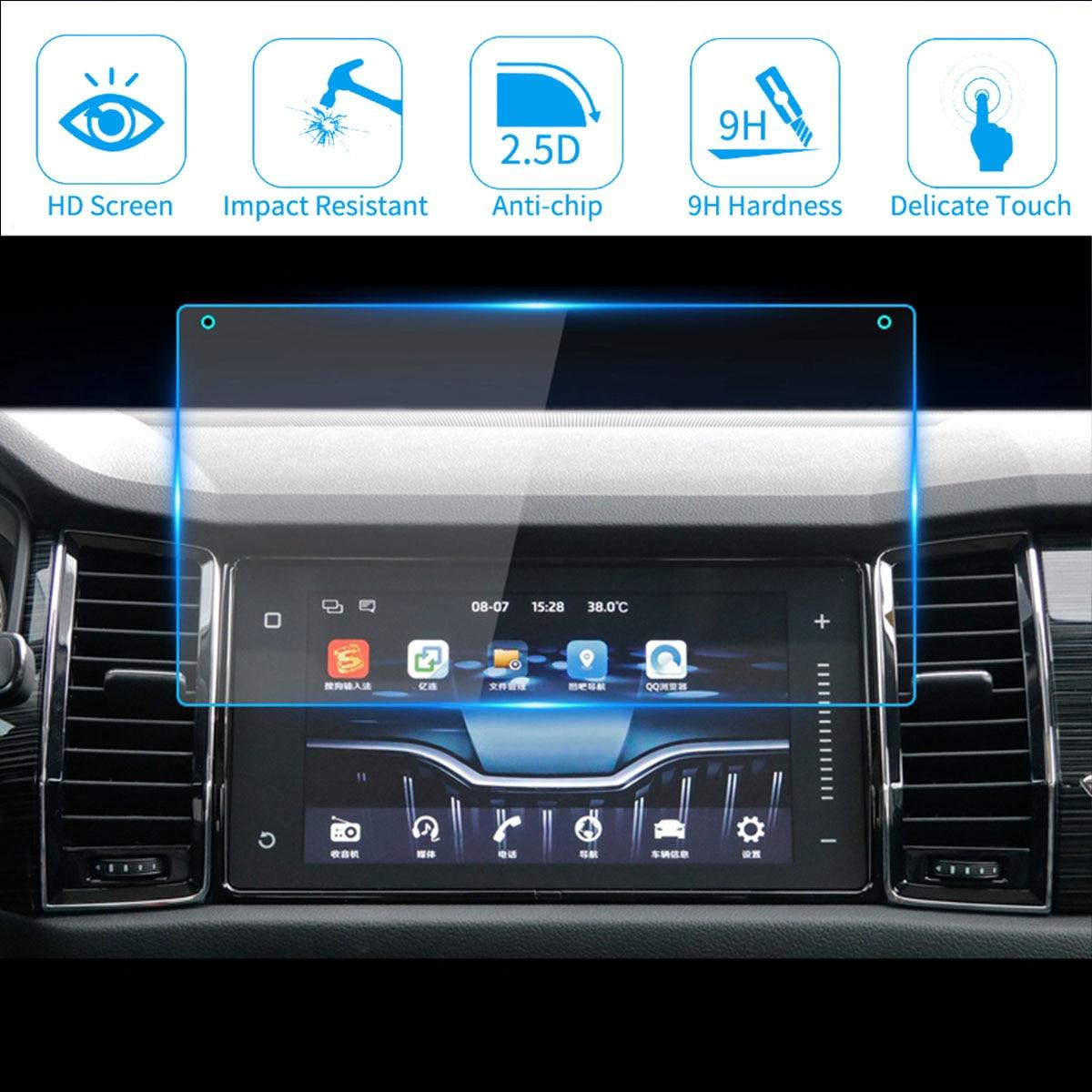 For Skoda kodiaq karoq 2018 Car 9 Inch GPS Navigation Screen Protector Film