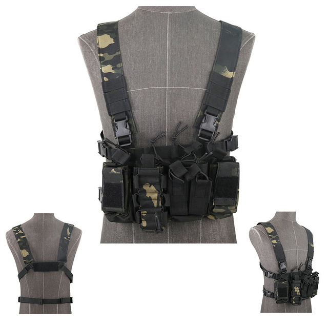Functional Tactical Chest Bag Airsoft Hunting Vest Waist Pack Military Magazine Radio Harness Pouch Holster Army Chest Rig Bag 6
