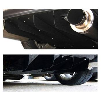 Universal Auto Rear Bumper Lip Difusor Saqueador ABS Chassis de Barbatana de Tubarão Carro Reformado Acessórios