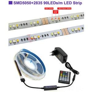 Image 4 - LED Strip RGBCCT Set RGB + Warm White + Cold White 5 Colour LED Strip 5m + 28Key RF Remote Controller + DC12V Power Adapter
