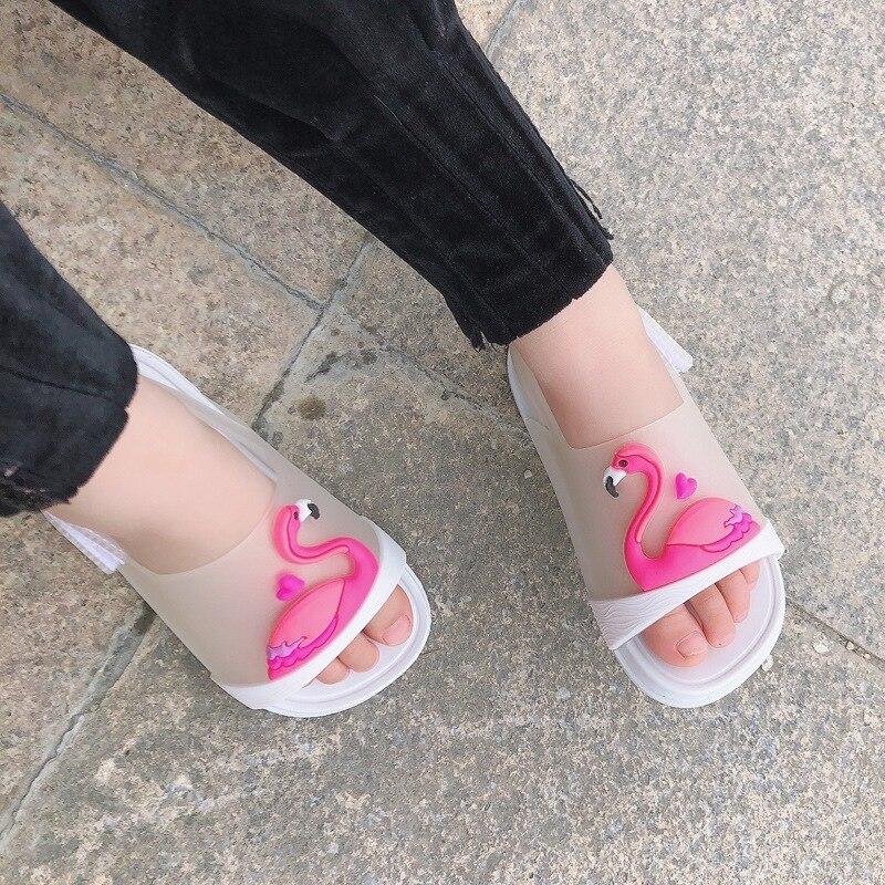 Children's Mini Sandals 2020 Fashion New Girls Sticks Jelly Shoes Baby Pvc Sandals Children's Beach Shoes Non-slip Toddler Shoes