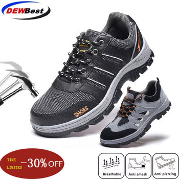 large size woman casual breathable steel toe covers work safety shoes non-slip puncture proof tooling boots site factory female