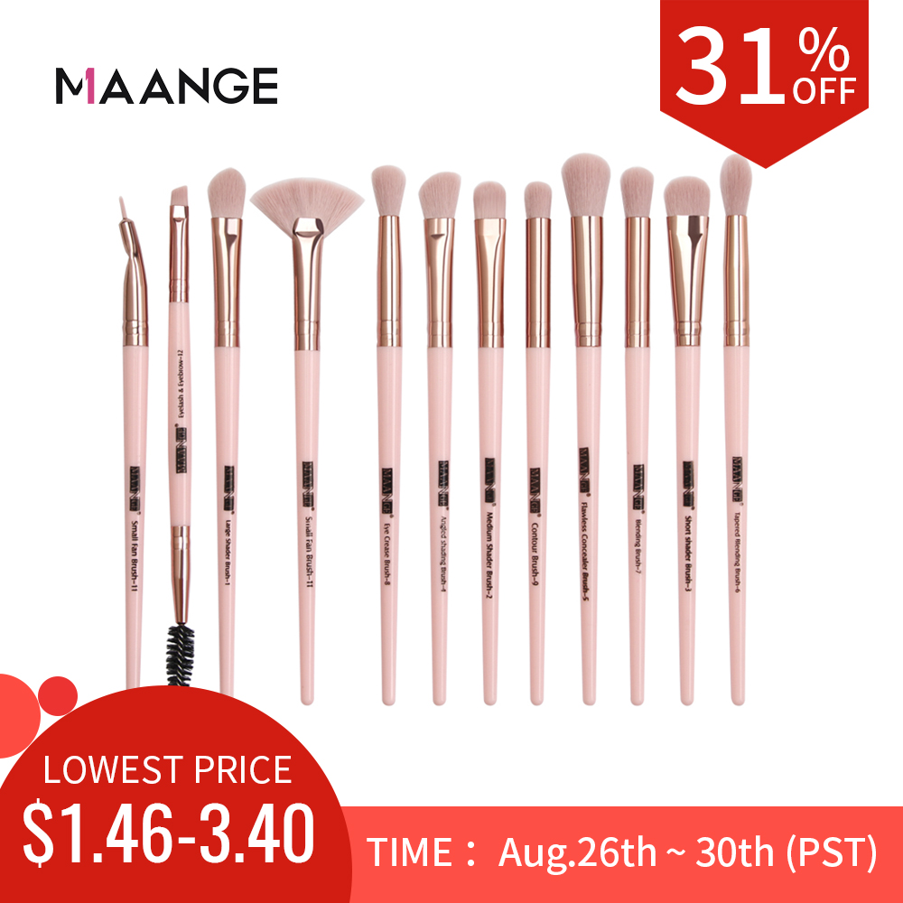 MAANGE Makeup-Brushes-Set Eyelash Blending-Eyeliner Eye-Shadow Pro for New 5/12pcs/lot